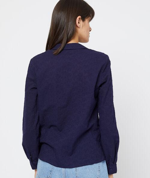 Camisa texturizada con flores 100% algodón