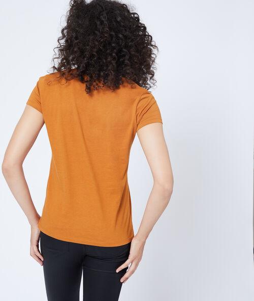 Camiseta cuello en V de algodón
