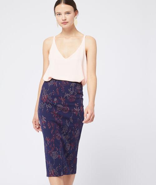 Falda bordado floral