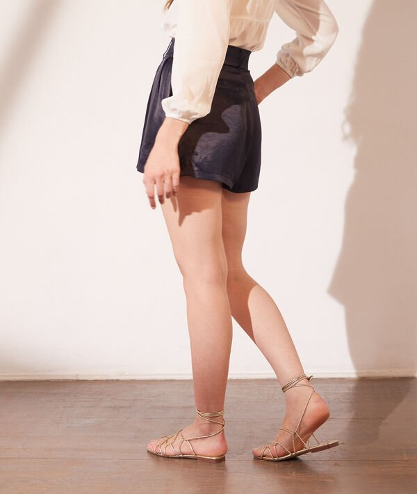 Pantalón corto de satén