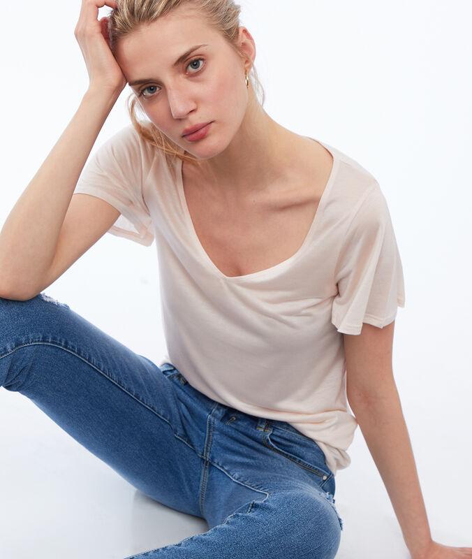 Camiseta escote en v tencel c.nude.