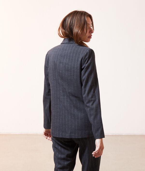 Veste de tailleur à rayures métallisées