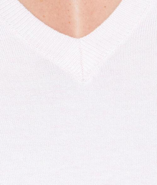 Jersey de punto fino con escote en V