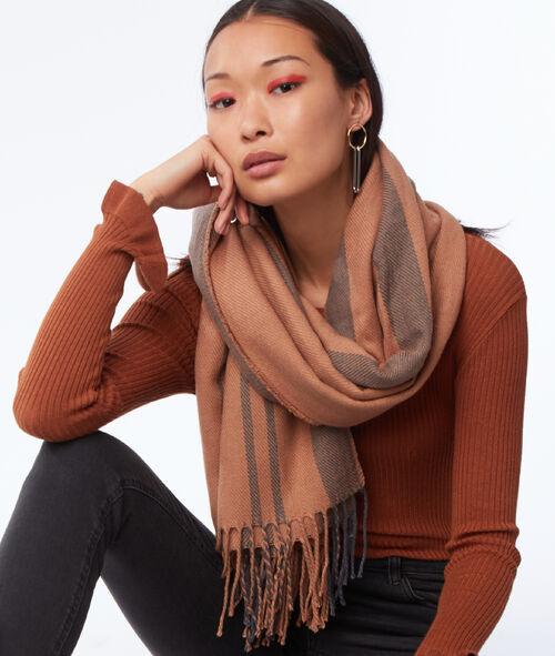Bufanda con estampado de rayas