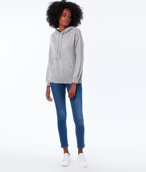 Jersey sudadera con capucha 100% cachemir