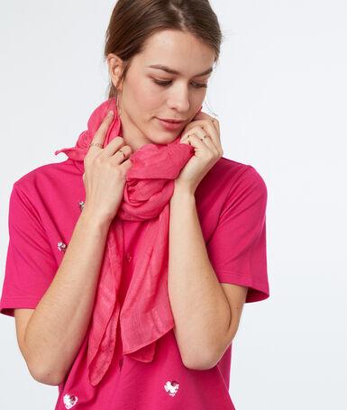Pañuelo liso rosa.