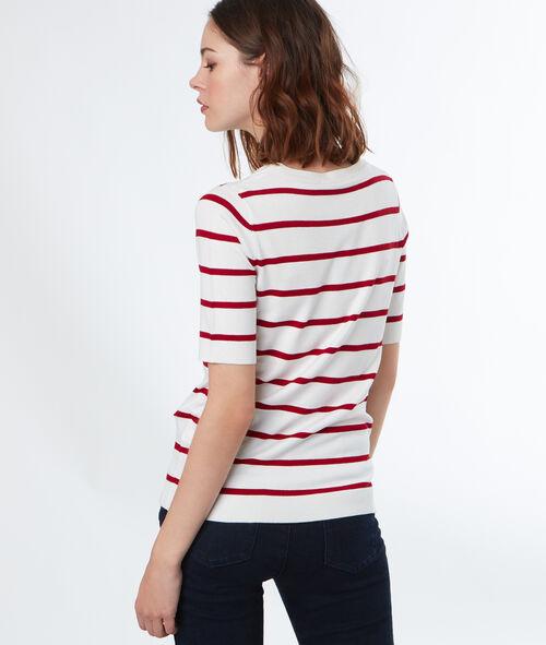 Jersey fino manga corta estampado a rayas