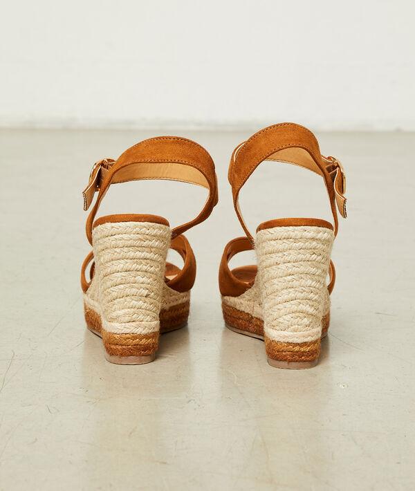 Sandalias de cuña efecto ante