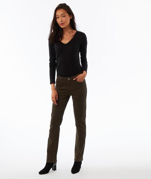 Camiseta manga larga escote en V