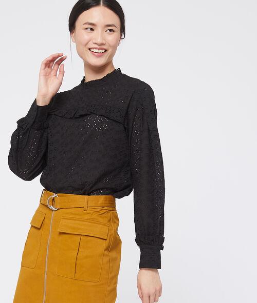 Blusa de algodón de guipir