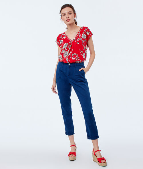 Top estampado floral
