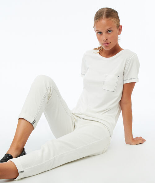 Camiseta manga corta con bolsillo frontal