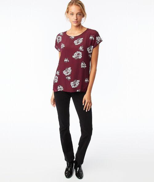 Camiseta estampado floral