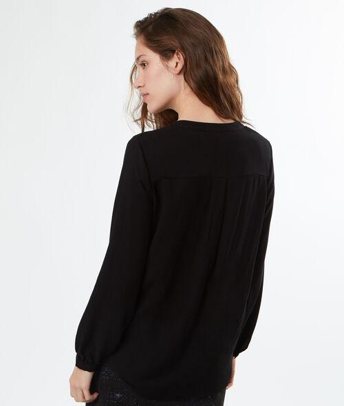Camisa cuello tunecino