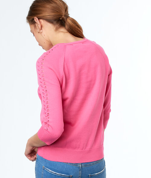 Jersey manga 3/4 cuello redondo algodón