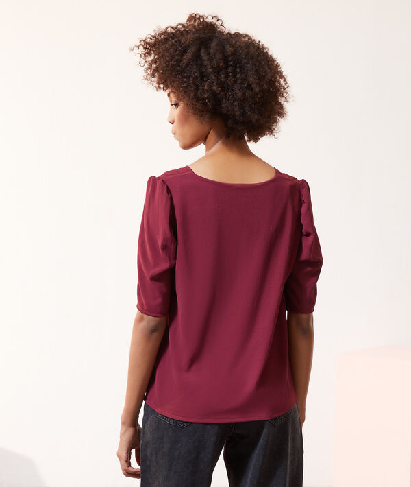 Blusa 2 en 1 con top integrado