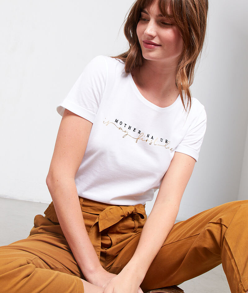 CAMISETA 'MOTHER NATURE IS MY FIRST LOVE'
