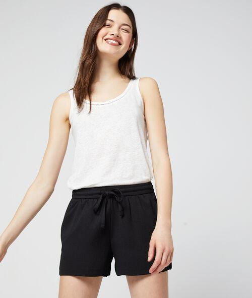 Pantalón corto vaporoso anudado