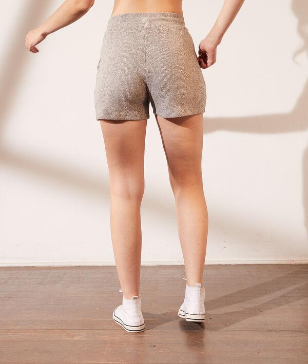 Pantalón corto tejido canalé