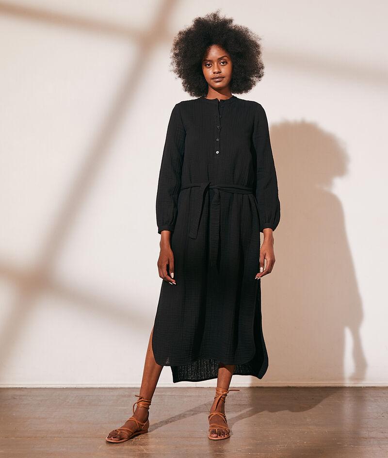 Vestido largo de algodón