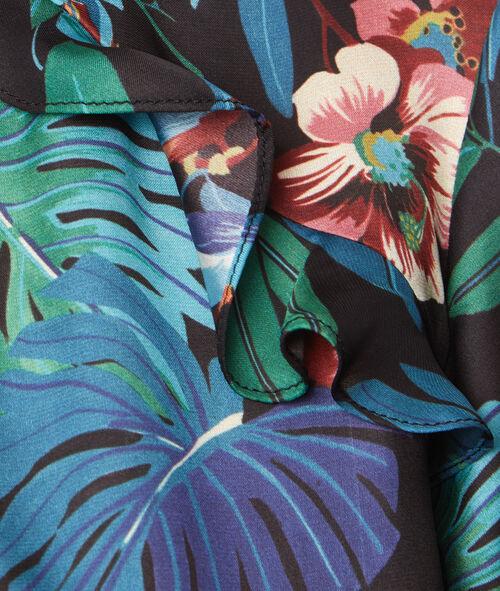 Top manches courtes imprimé fleurs