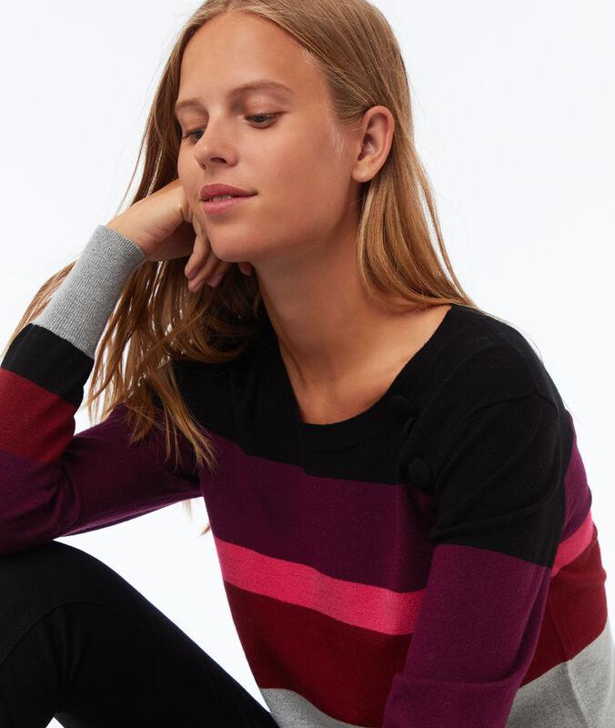 Jersey estampado de rayas multicoloroe.