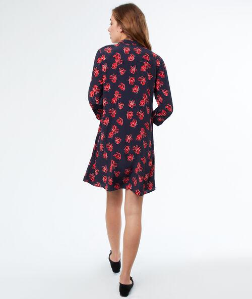 Vestido holgado estampado floral
