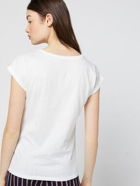 Camiseta 'amour' 100% algodón crudo.
