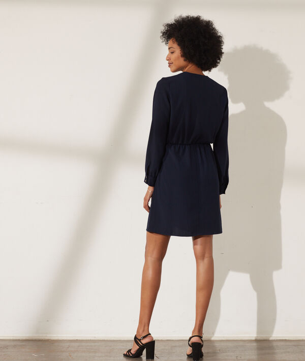 Vestido corto escote cruzado