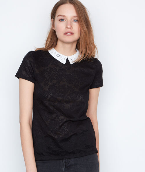 Camiseta cuello camisero