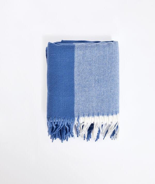 Bufanda estampada con flecos