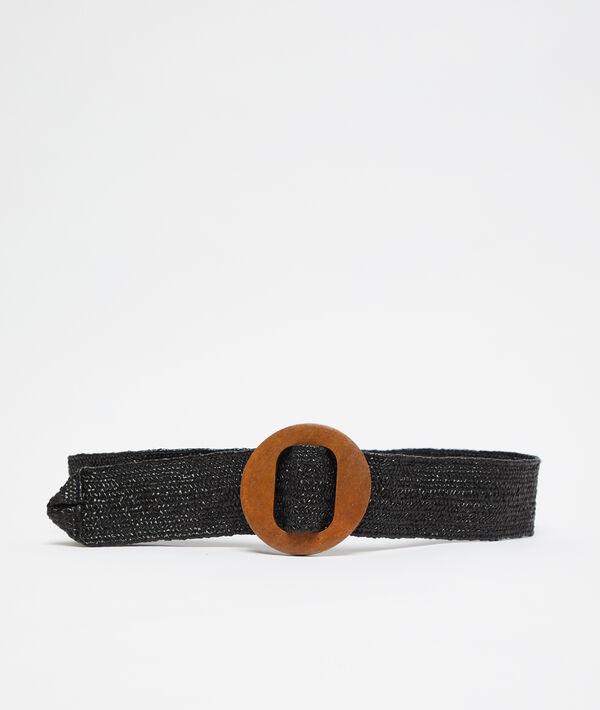 Cinturón largo trenzado