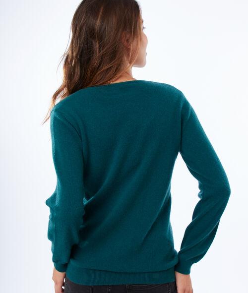 Jersey escote en V 100% cachemir