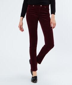 Pantalon en coton prune.