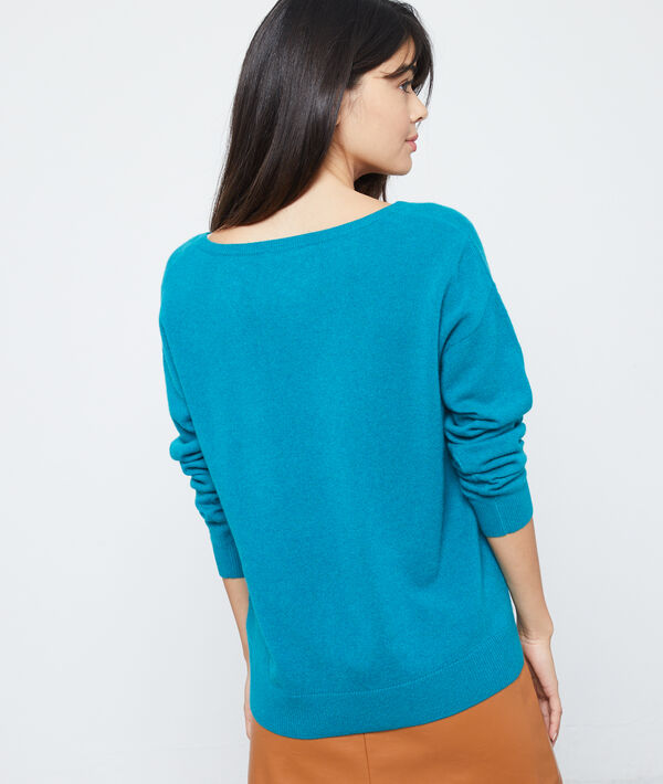 Suéter de punto trenzado de cachemira