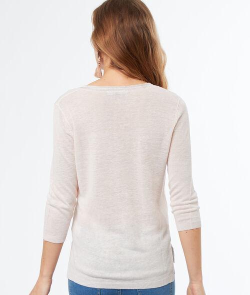 Jersey cuello en V lino