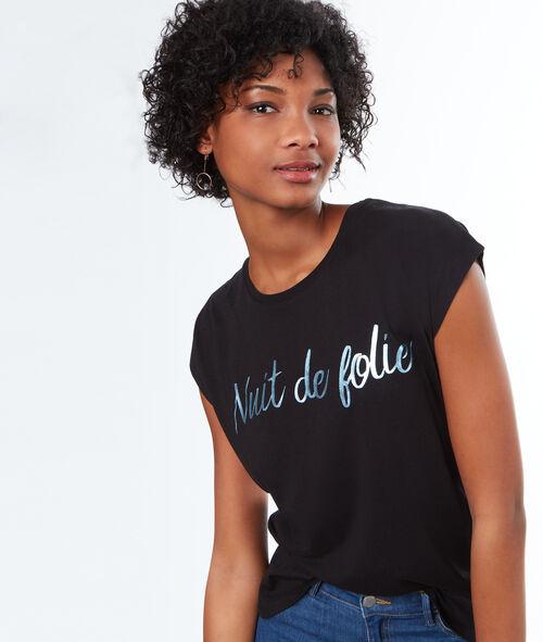 """T-shirt imprimé """"Nuit de folie"""""""