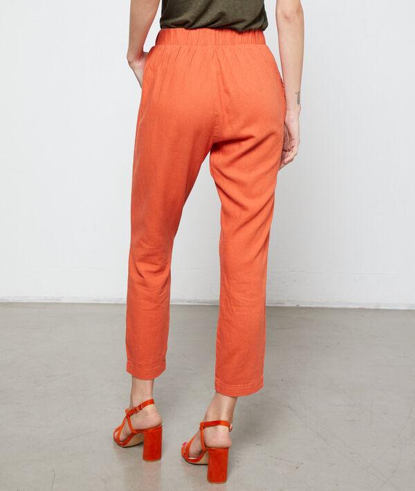 Pantalón de corte zanahoria anudado