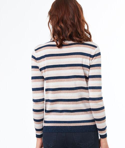Jersey escote en V estampado de rayas