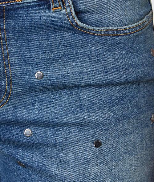 Short en jean à strass