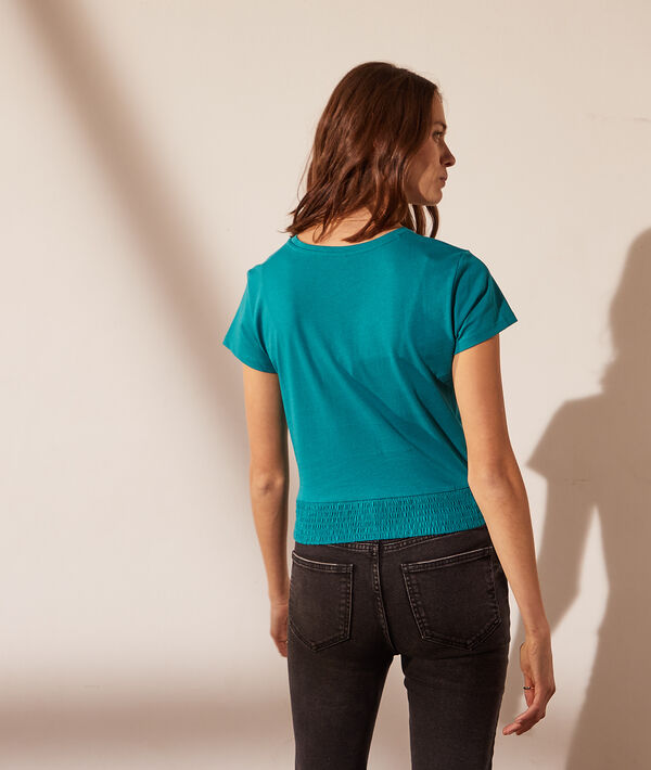 Camiseta manga corta, efecto lazada