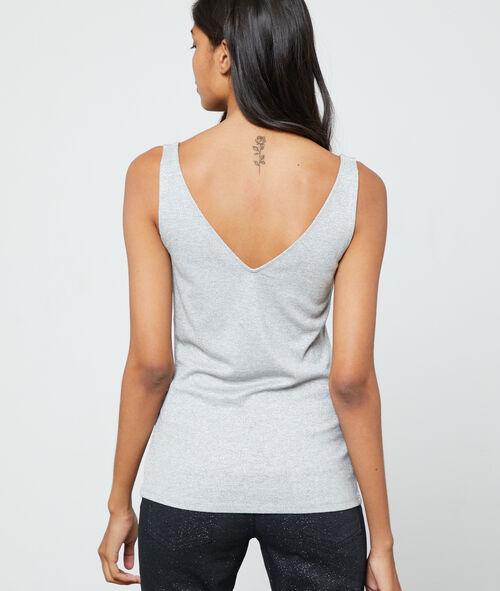 Camiseta de hilo metalizado