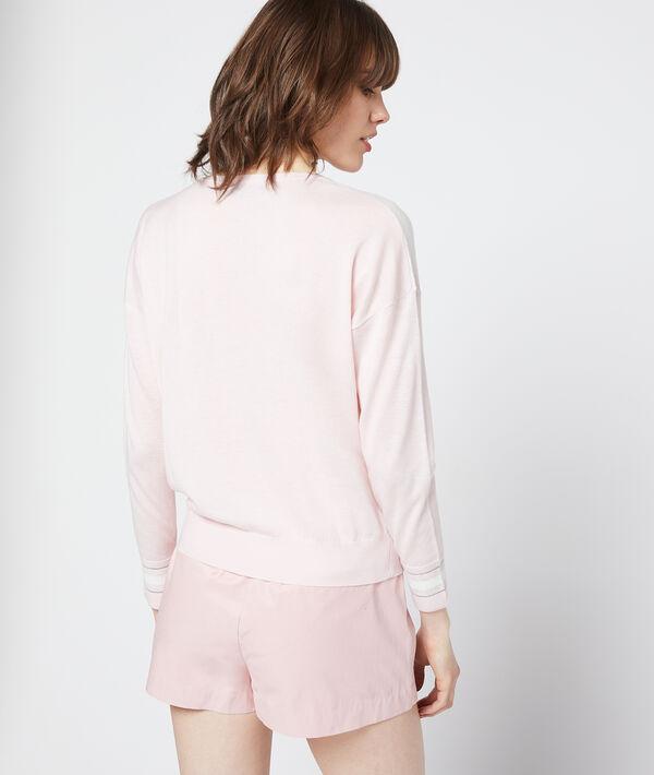 Suéter estampado patchwork