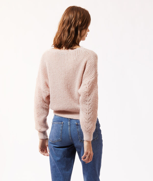 Pull maille pointelle