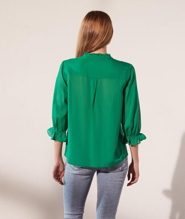 Camisa semitransparente, motivos encaje