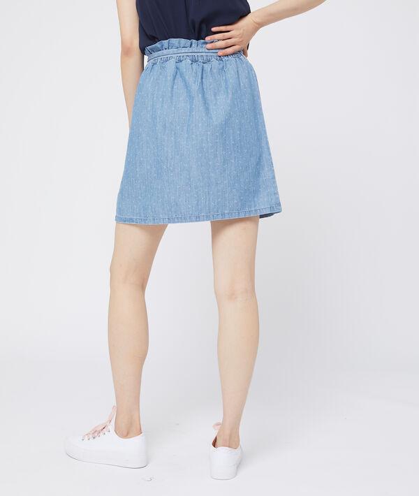 Falda anudada de algodón