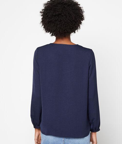 Blusa abotonada cuello en V