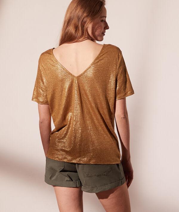 Camiseta irisada de lino