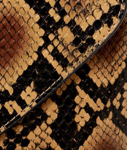 Bolso bandolera estampado serpiente
