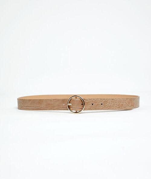 Cinturón con hebilla efecto cocodrilo